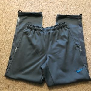 Nike Therma Fit Blue Camo Sweatpants Large Mens